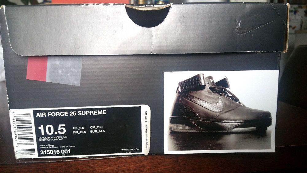nike air force 25 supreme black
