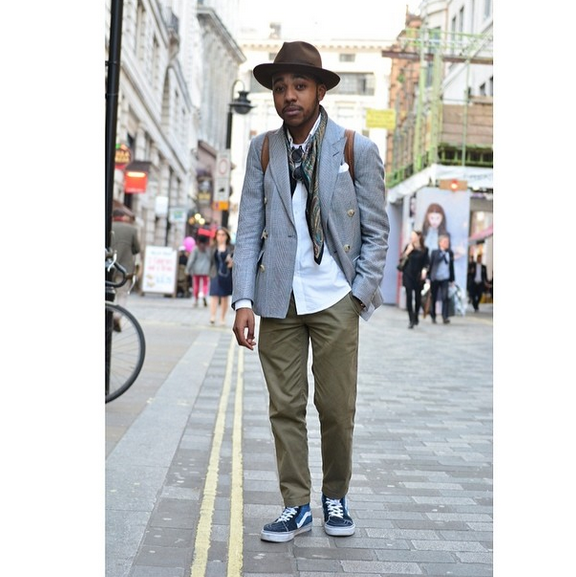 ef49153b890e23 Vans Sk8 - Hi with Olive Chinos and Italian Inspired Top half ...