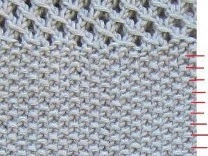 tricoter le point de riz