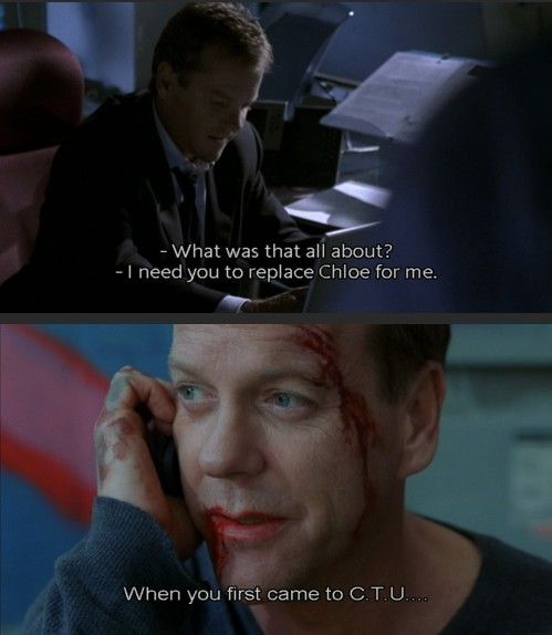 Jack Bauer Funny Quotes: Chase Edmunds, Jack Bauer, And Chloe O'Brian; Season 3 And