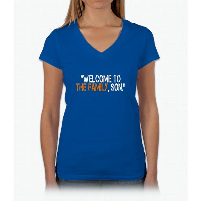 Welcome to the Family, Son. Womens V-Neck T-Shirt