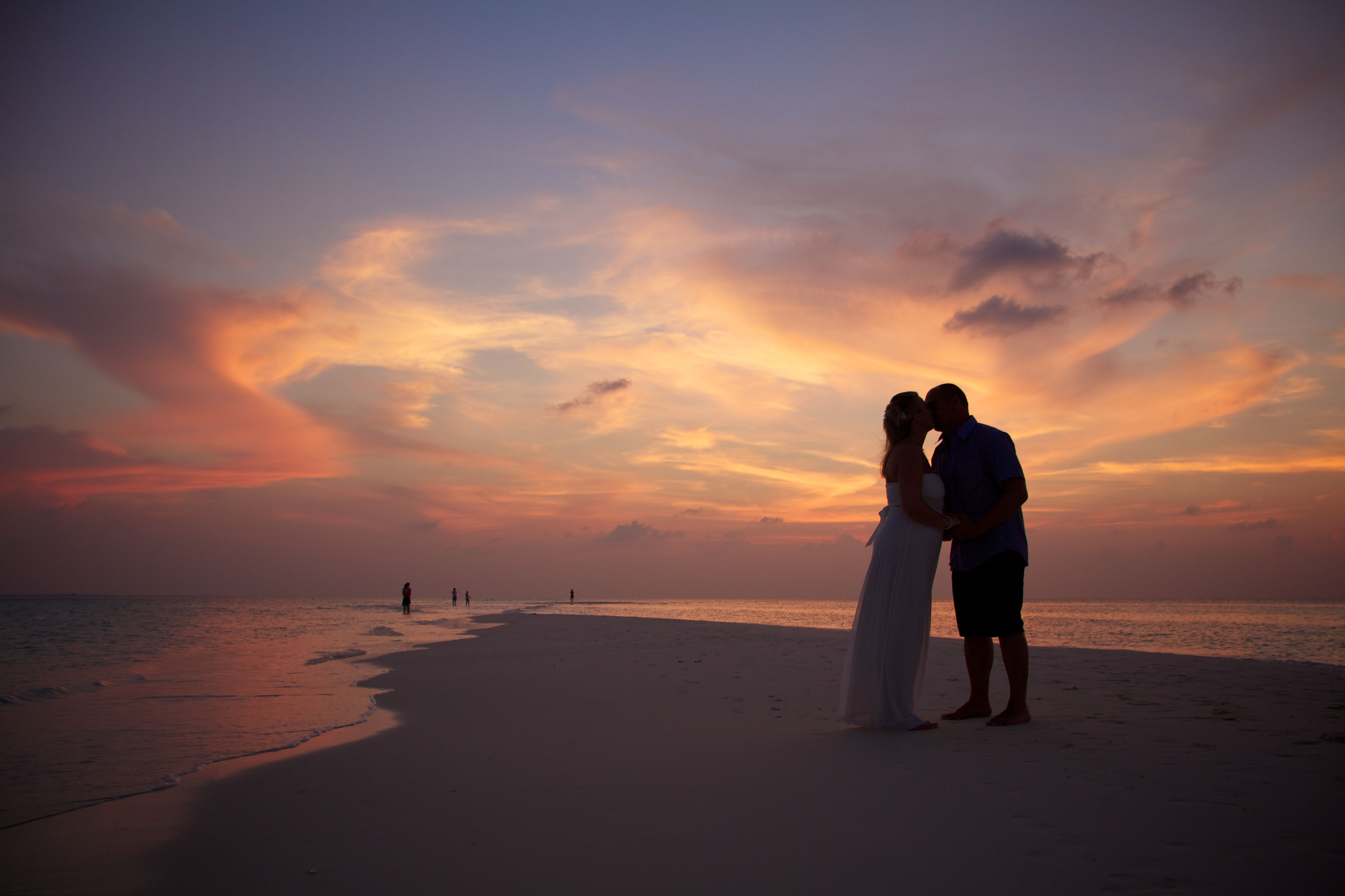 Amazing sunset....sealed with a kiss