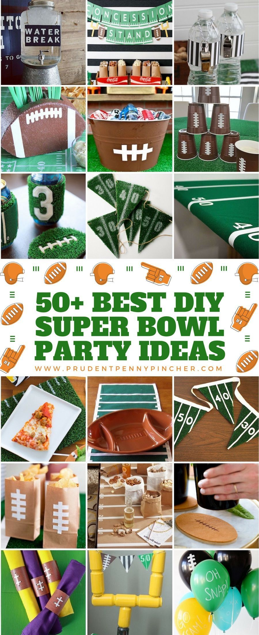 50 Best DIY Super Bowl Party Ideas #SuperBowl #football