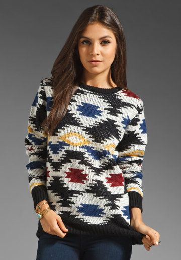 American Retro Sarah Sweater in Jacquard from REVOLVEclothing.com