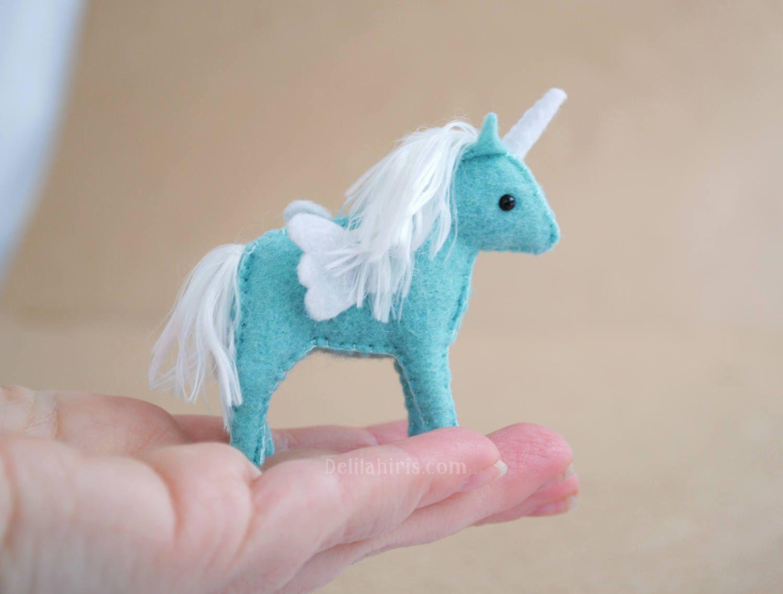 tiny baby unicorn pattern diy miniature stuffed unicorns mini unicorns printable pdf stuffed animal