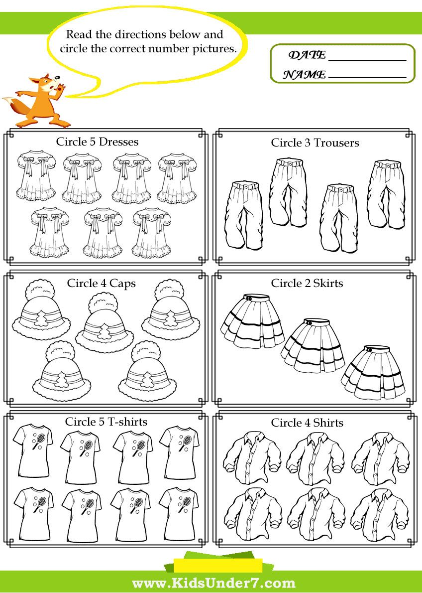 Kids Under 7 Counting Worksheets Circle The Correct Amount Kindergarten Worksheets Kindergarten Addition Worksheets Math Subtraction Worksheets [ 1190 x 848 Pixel ]