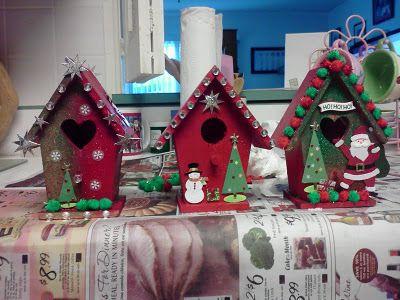 Resultado de imagen para casas navideñas en mdf casitas pajaro