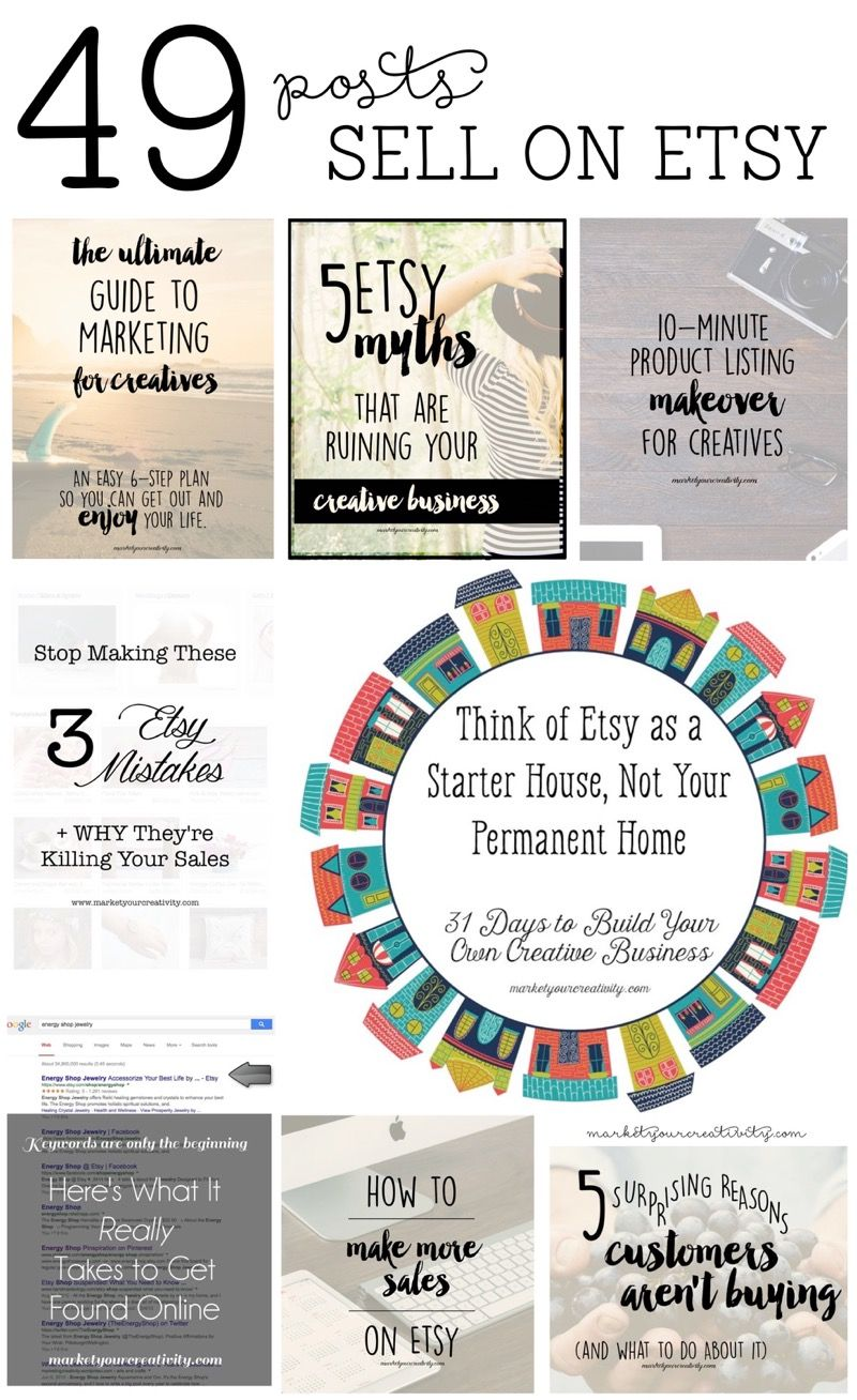 49 posts to help you sell on etsy etsy business sell on