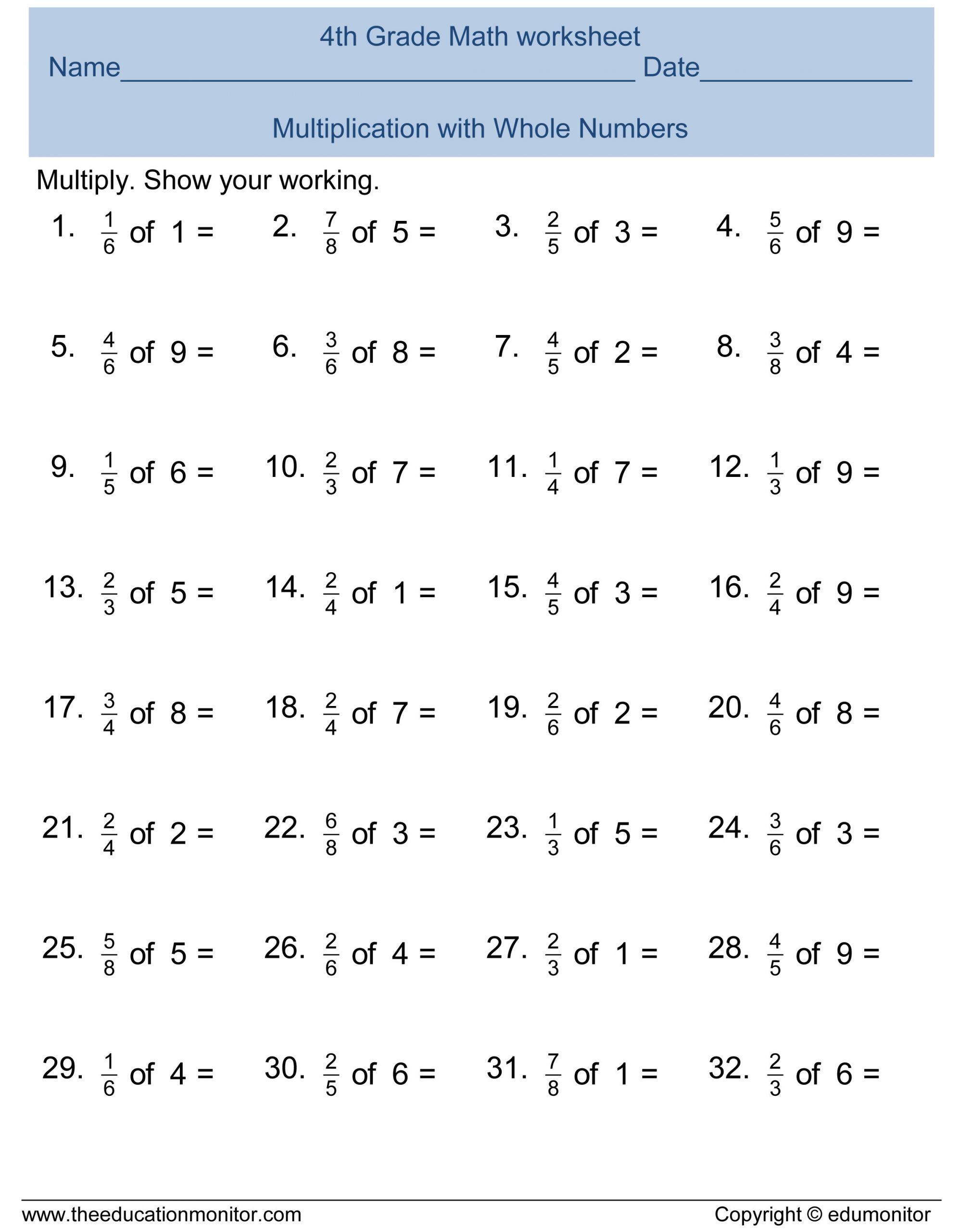 32 5th Grade Fraction Worksheet In