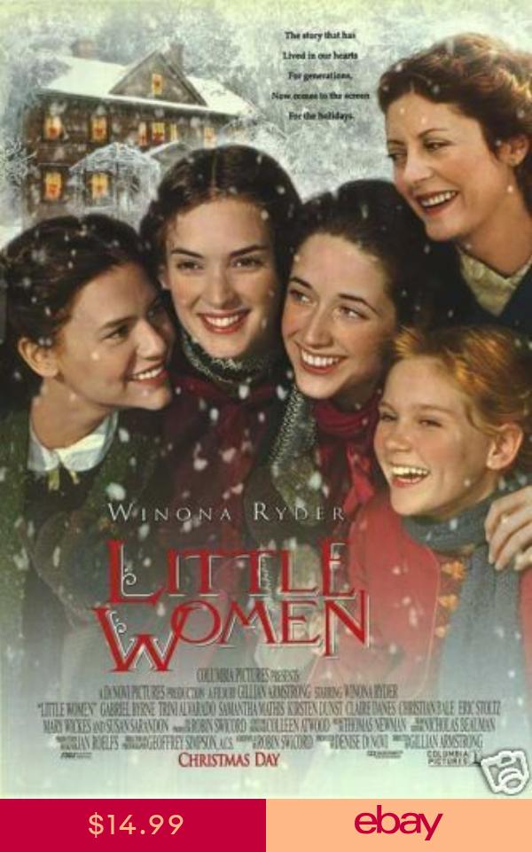 Little Women 1994 Original 27x40 Movie Poster Susan Sarandon Winona Ryder Dunst Woman Movie Winona Ryder Kirsten Dunst