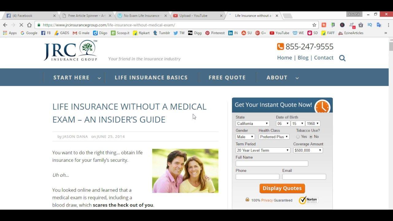 No Exam Life Insurance Over 55 To 85 Finance Advice Health