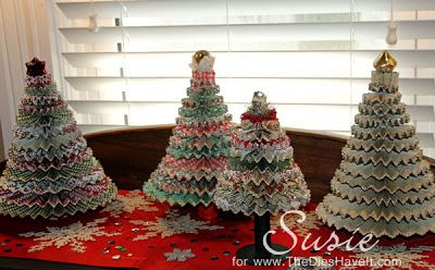The Dies Have It: A Little More Decorating-Rosette Christmas trees