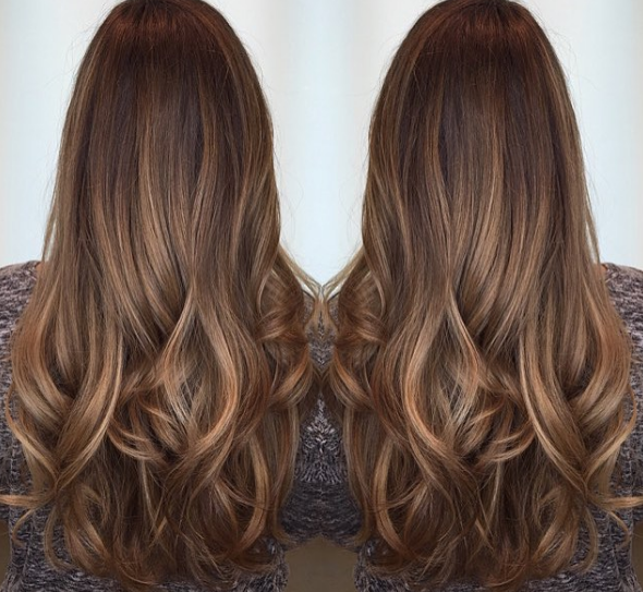 Flattering Caramel Highlights On Dark Brown Hair Hair Ball