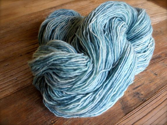 verdigris  hand dyed yarn silk alpaca superwash by pancakeandlulu, $18.00