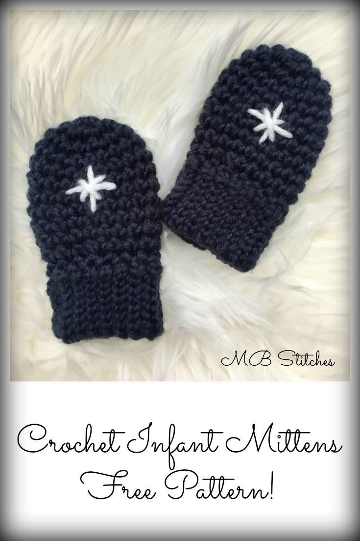 Adorable crochet baby mittens - free pattern!! | CROCHET | Pinterest ...