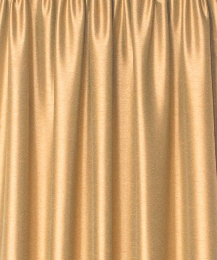 Zappy Cart Dupioni Faux Silk Curtain Each 51 Inch 130 Cm Wide X 96 243 Cm Long Rod Top With Normal Lining Gold Color Faux Silk Curtains Curtains Gold Color