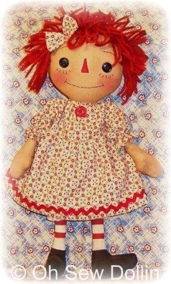 Doll Pattern, Rag Doll Cloth Doll pattern PDF pattern, Sewing ...