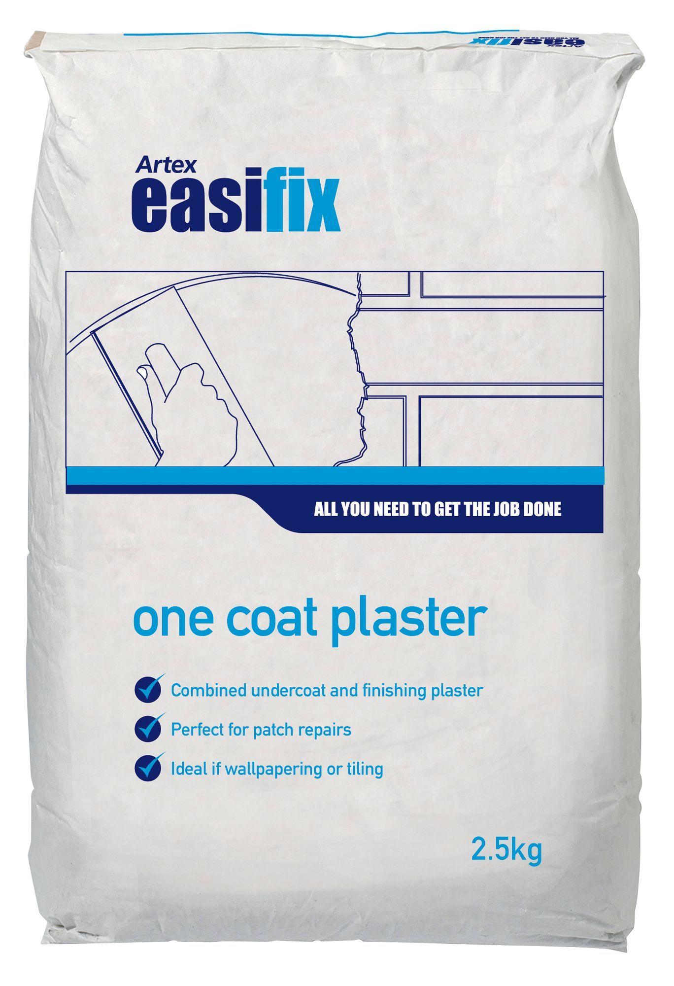 Artex Easifix One Coat Plaster 2.5kg   Departments   DIY at B&Q