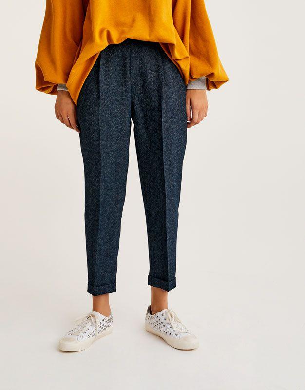 Tailored trousers - Kalhoty - Oděvy - Ženy - PULL BEAR Czech Republic b8a6bc16ef08