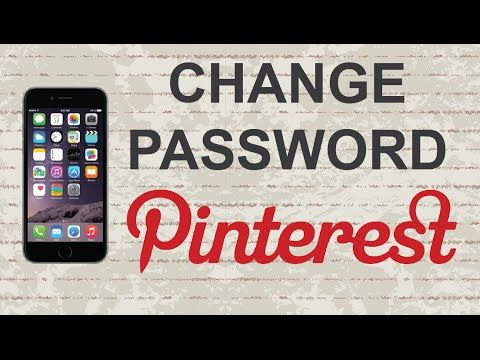 How to change Pinterest password Mobile App (Android
