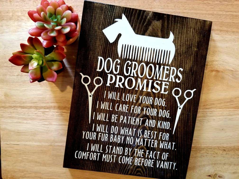 Groomer Promise Gift For Groomer Pet Grooming Pet Care Dog