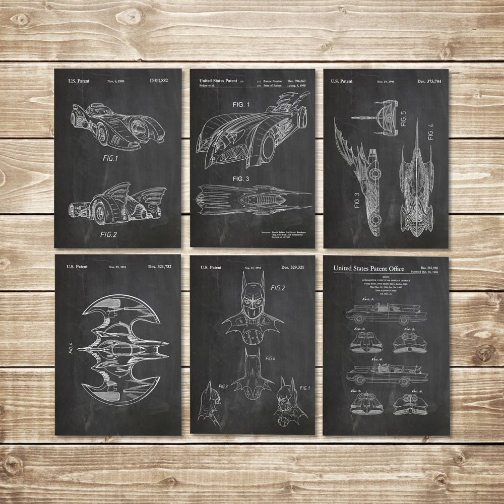 Batman blueprint patent print group batman art posters batman excited to share the latest addition to my etsy shop batman blueprint patent malvernweather Image collections