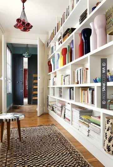 Sweet - bibliothèque   CHECK OUT MORE BOOKSHELF IDEAS AT DECOPINS.COM  