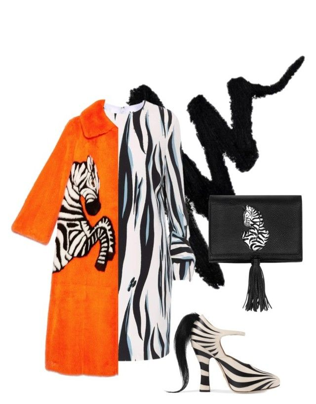 """""""There's a lot of zebra on my pad."""" by doo-x ❤ liked on Polyvore featuring Victoria, Victoria Beckham, Gucci and Nach Bijoux"""
