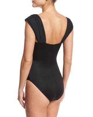 9c98b1b790959 Magicsuit Natalie Solid Cap-Sleeve One-Piece Swimsuit