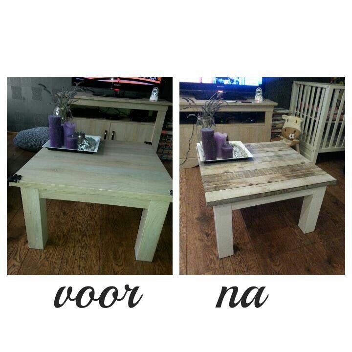 Met plakfolie kun je meubels een hele andere stijl geven interior creative ideas pinterest - Tafel een kribbe stijl industriel ...