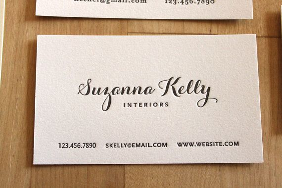 Letterpress Business Card Sample Style 3 by BKLYNsocialcards - business card sample