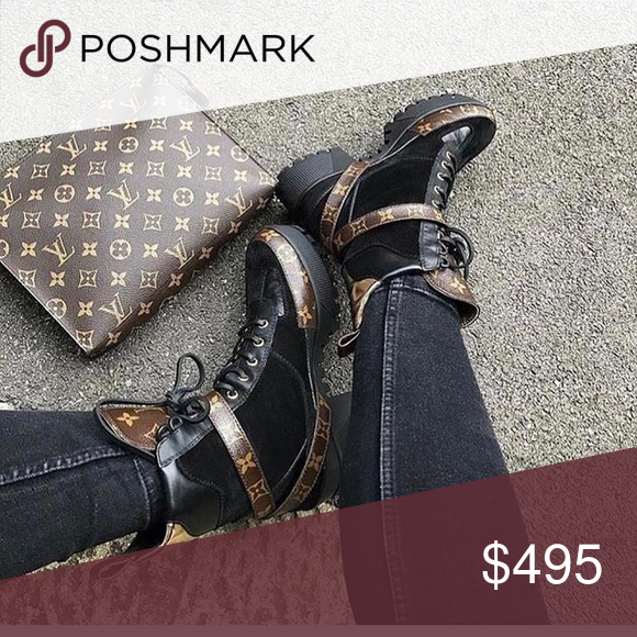 a70f22910320 Spotted while shopping on Poshmark  LV desert boot and clutch!  poshmark   fashion  shopping  style  Louis Vuitton  Shoes