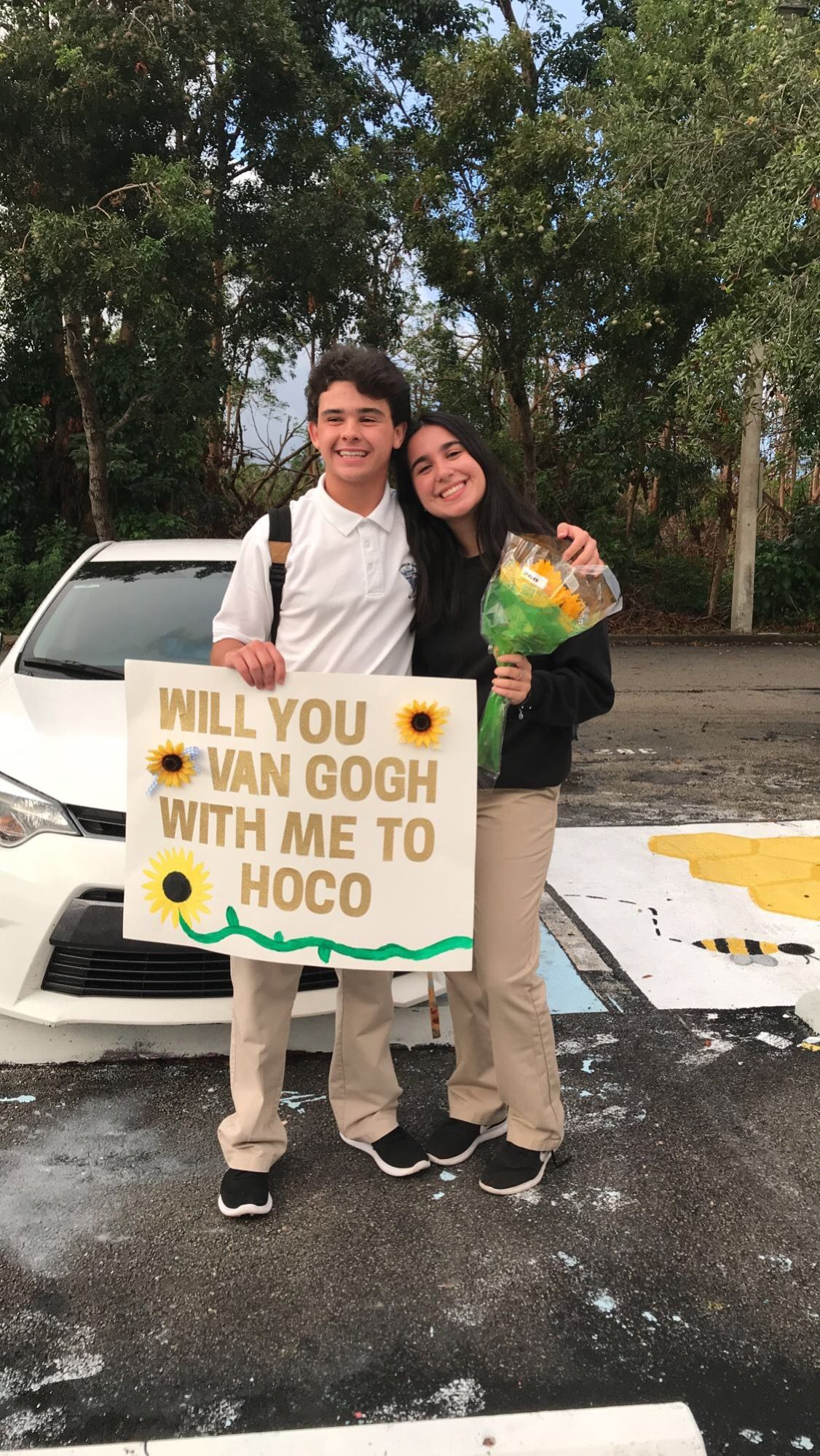 Van Gogh Homecoming Proposal