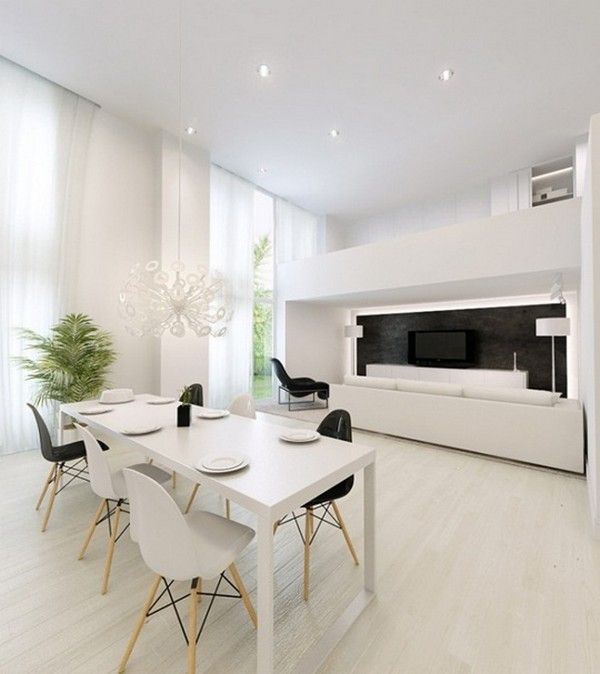 Modern Interior Design With Black and White Chair Black & White  Inspiration: 35 Contemporary Decors