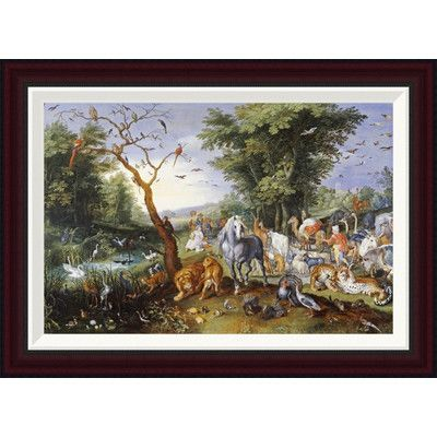 Global Gallery Animals Entering Noah's Ark by Jan Brueghel the Younger Framed Painting Print Size: