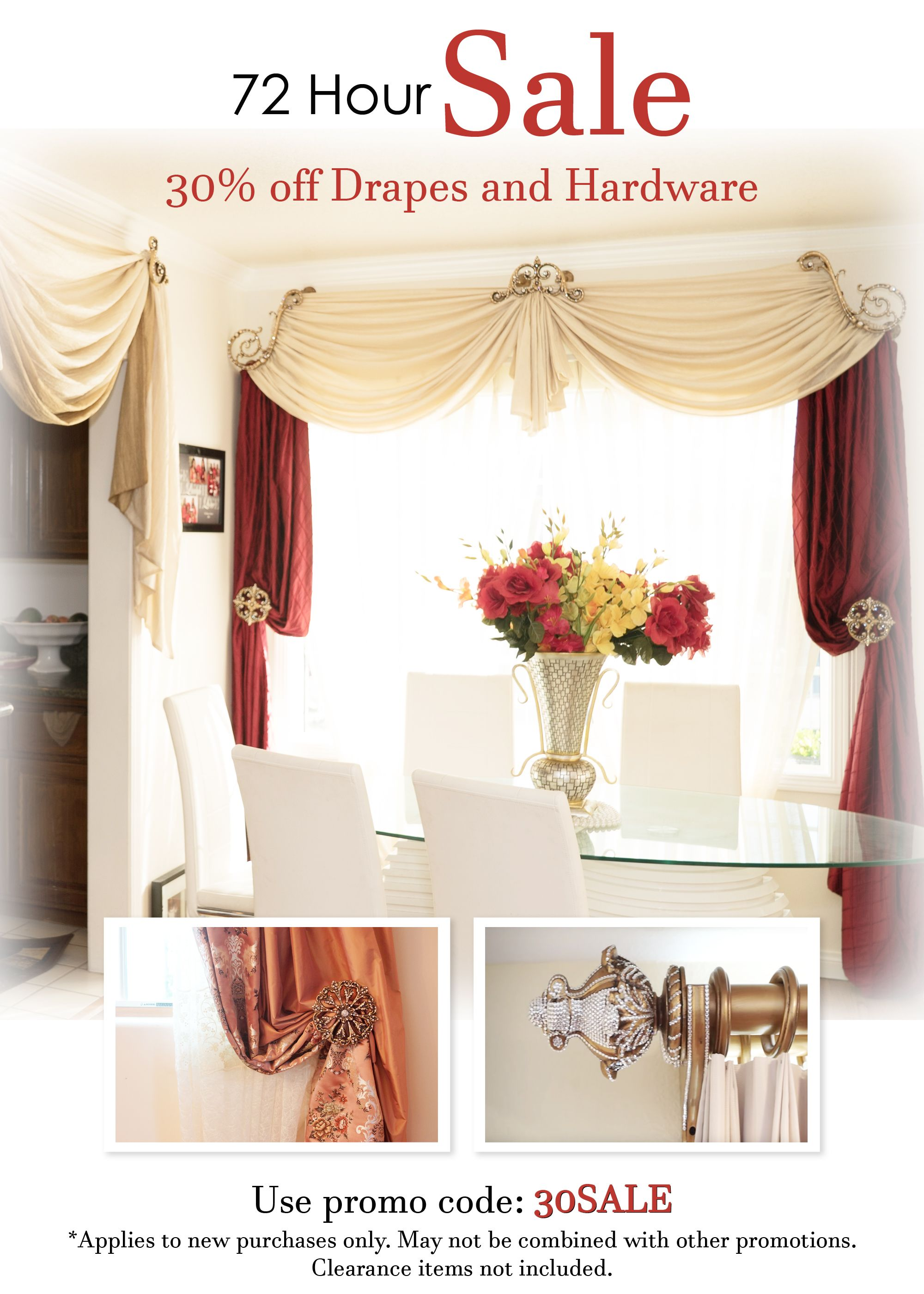 30 Off 72 Hour Sale Starting 11 10 Thru 11 12 Curious To See What Your Room Will Look Like When The W Family Room Windows Custom Drapery Family Living Rooms