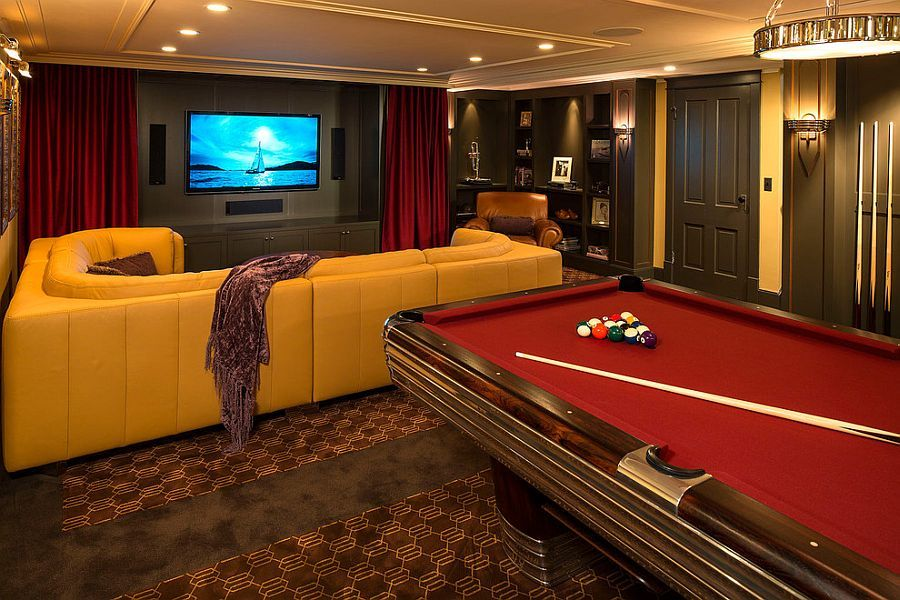 Basement Home Theater Design Ideas Decor 10 awesome basement home theater ideas | basements, pool table and