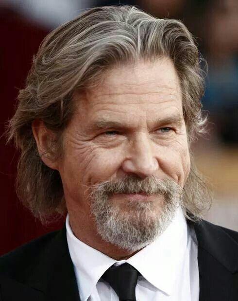 Jeff Bridges | Older mens hairstyles, Older mens long ...