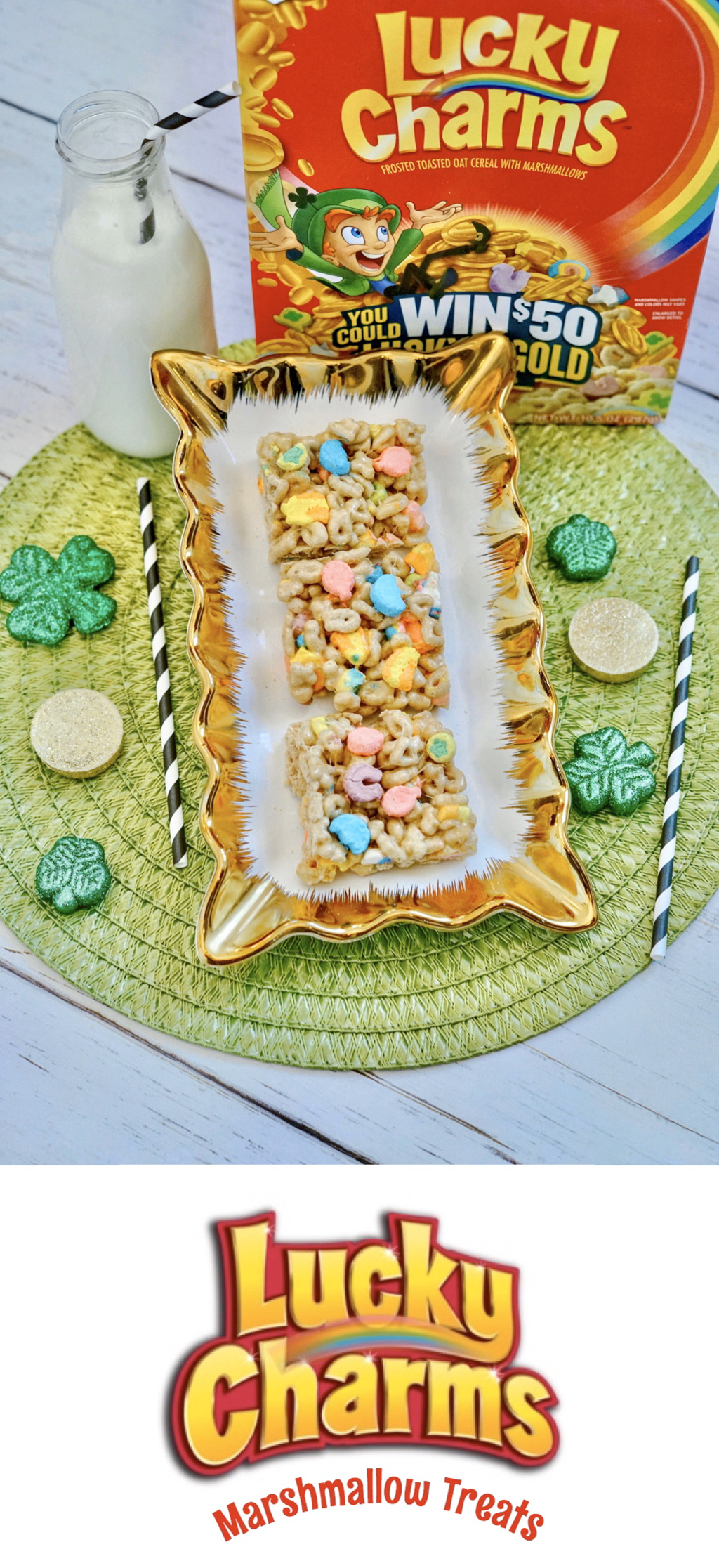Lucky Charms Marshmallow Treats in 2020 Lucky charms