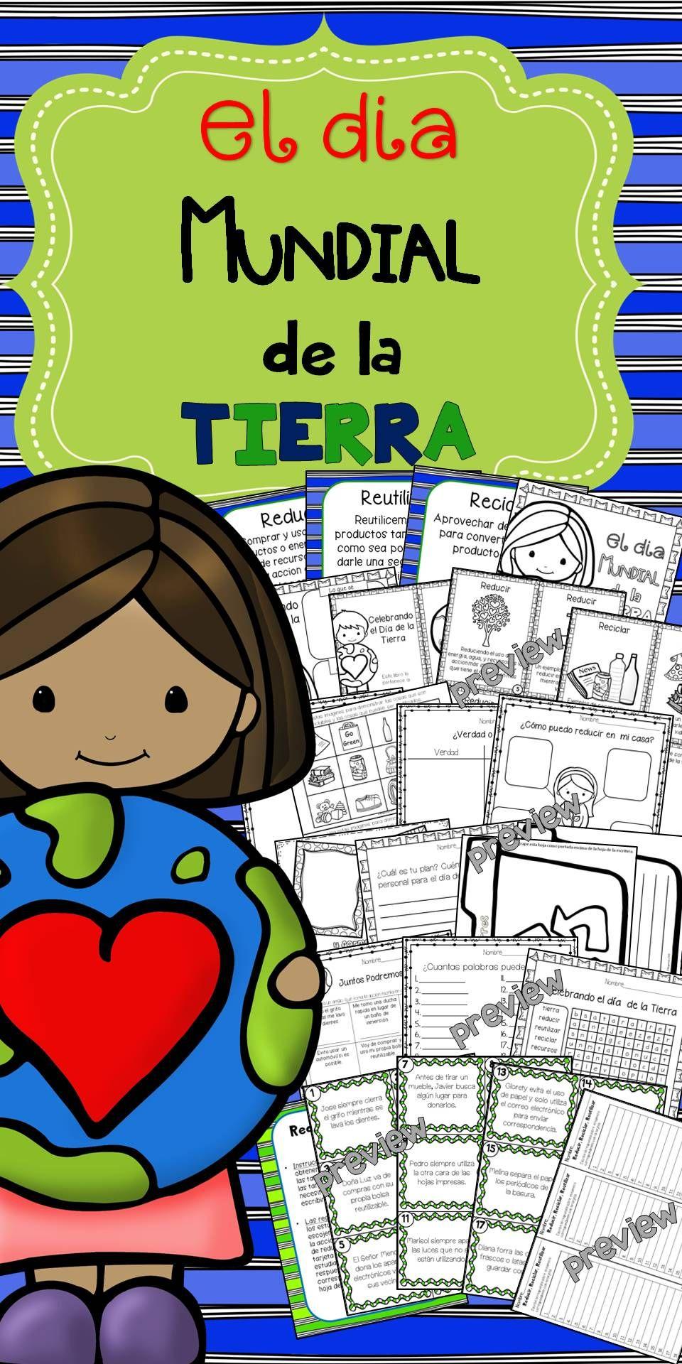 Celebrando El Día De La Tierra School Celebration English Language Learners Activities Planet For Kids