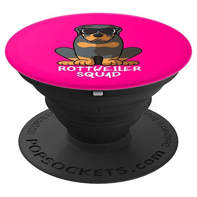 e0be1abf Rottweiler Squad With Sunglasses Funny Cool Dog Pink - PopSockets Grip and  Stand for Phones and