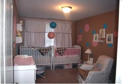 Twin Baby Girl Bedroom Ideas pink and blue twin nursery idea: well, here are some pics of our