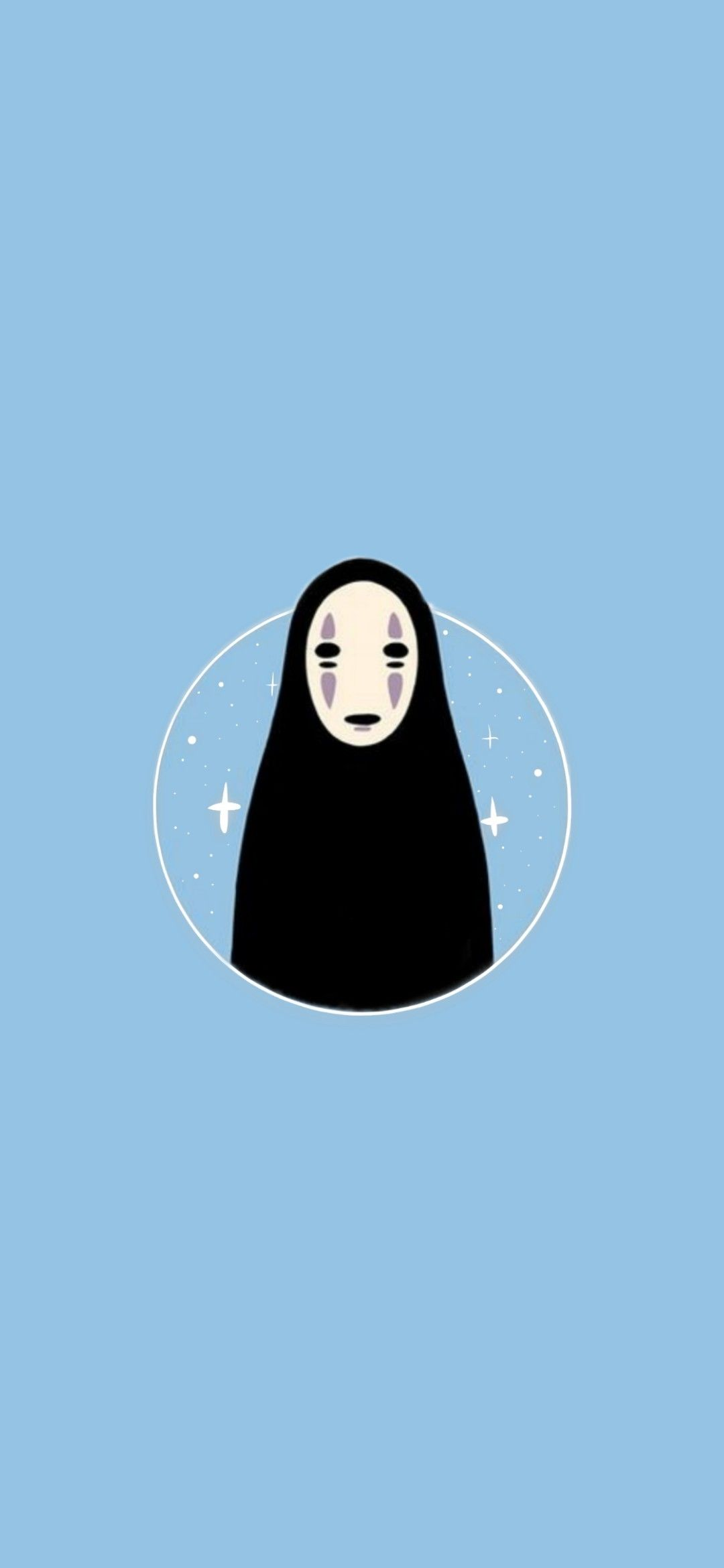 Sprited Away No Face Aesthetic Blue Iphone Wallpaper Anime Backgrounds Wallpapers Blue Digital Art Studio Ghibli Art