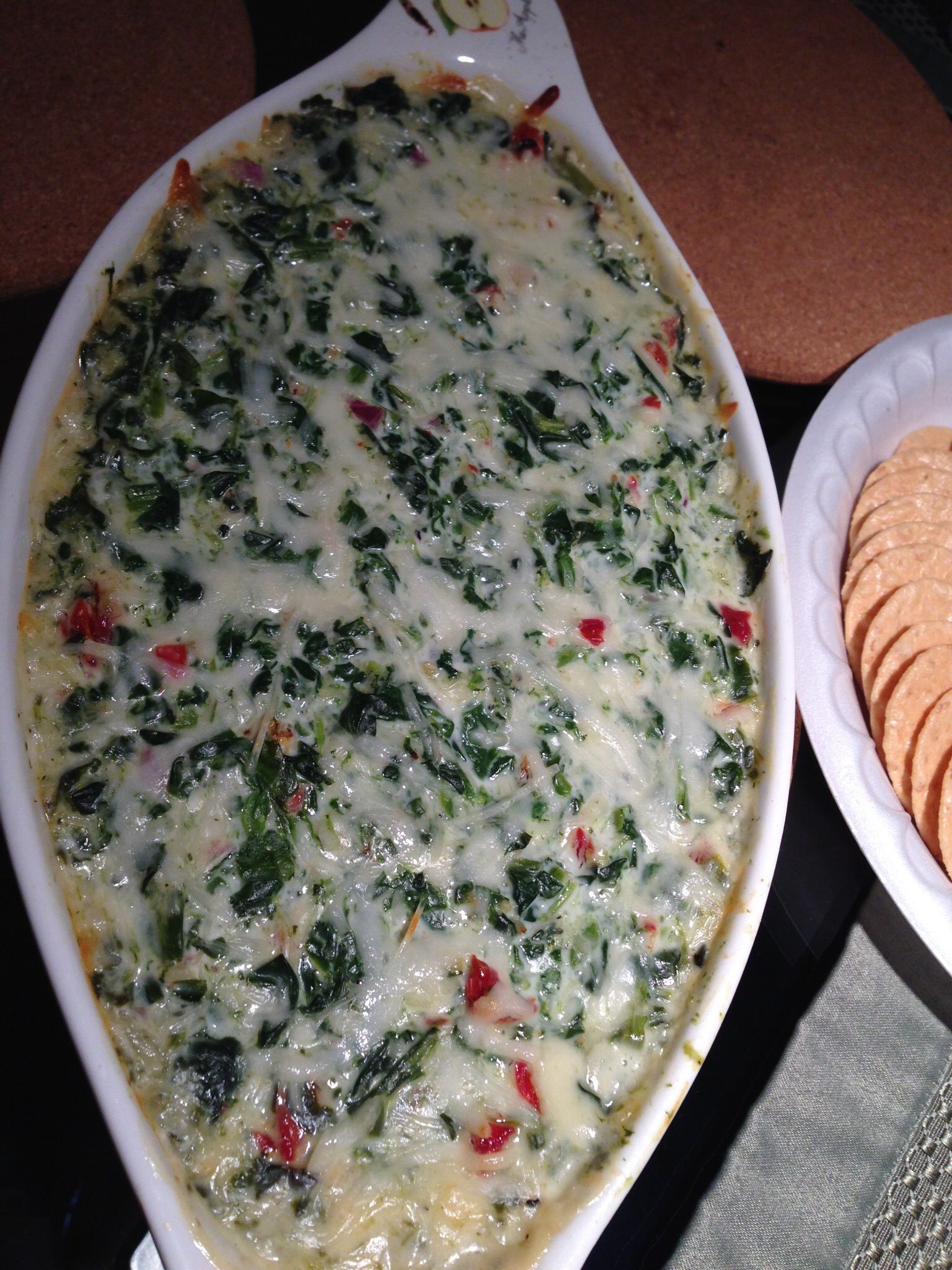 Garlicky Kale and sundried tomato dip