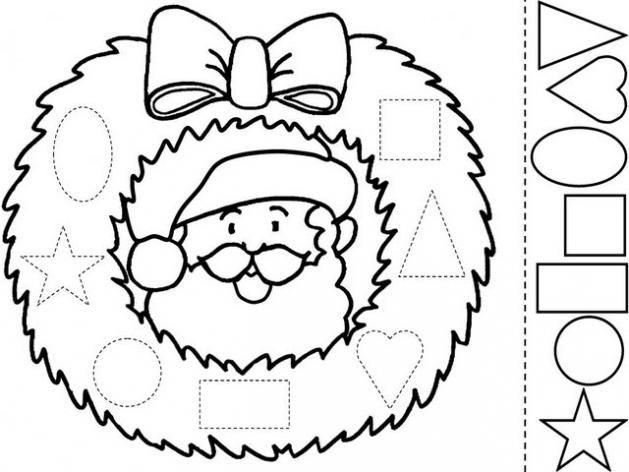 dibujos de navidad para colorear e imprimir  grafomotricidad
