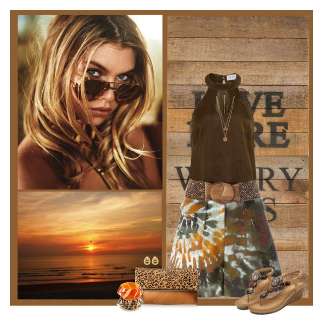 """""""Shorts For The weekend"""" by sherry7411 ❤ liked on Polyvore featuring Second Nature By Hand, Elvi, Valentino, Joe Browns, FOSSIL, Lord & Taylor, Bee Charming and Kate Spade"""