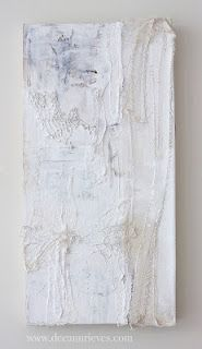 "Still Unraveling ; mixed media and machine embroidery on paper and wood panel ;12"" X 20"" #art #deeannrieves www.deeannrieves.com"