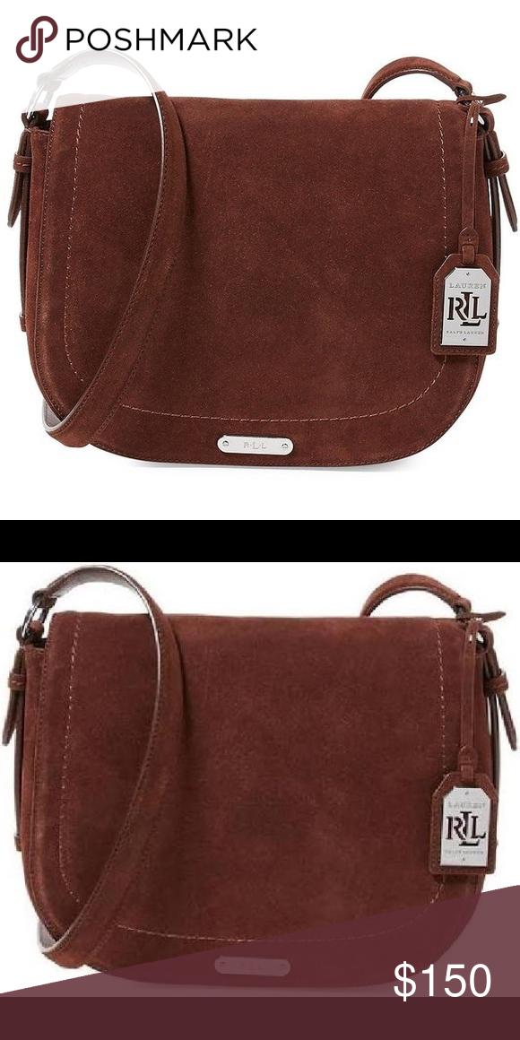 R A L P H L A U R E N Larisa Crossbody BRAND NEW! Lauren Ralph Lauren  Glennmore Collection Larisa Saddle Bag A heritage ad3c530d007c9