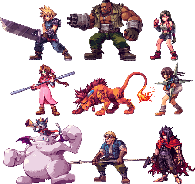 Final Fantasy 7 Anime Characters : Jrpg characters look so good as d sprites
