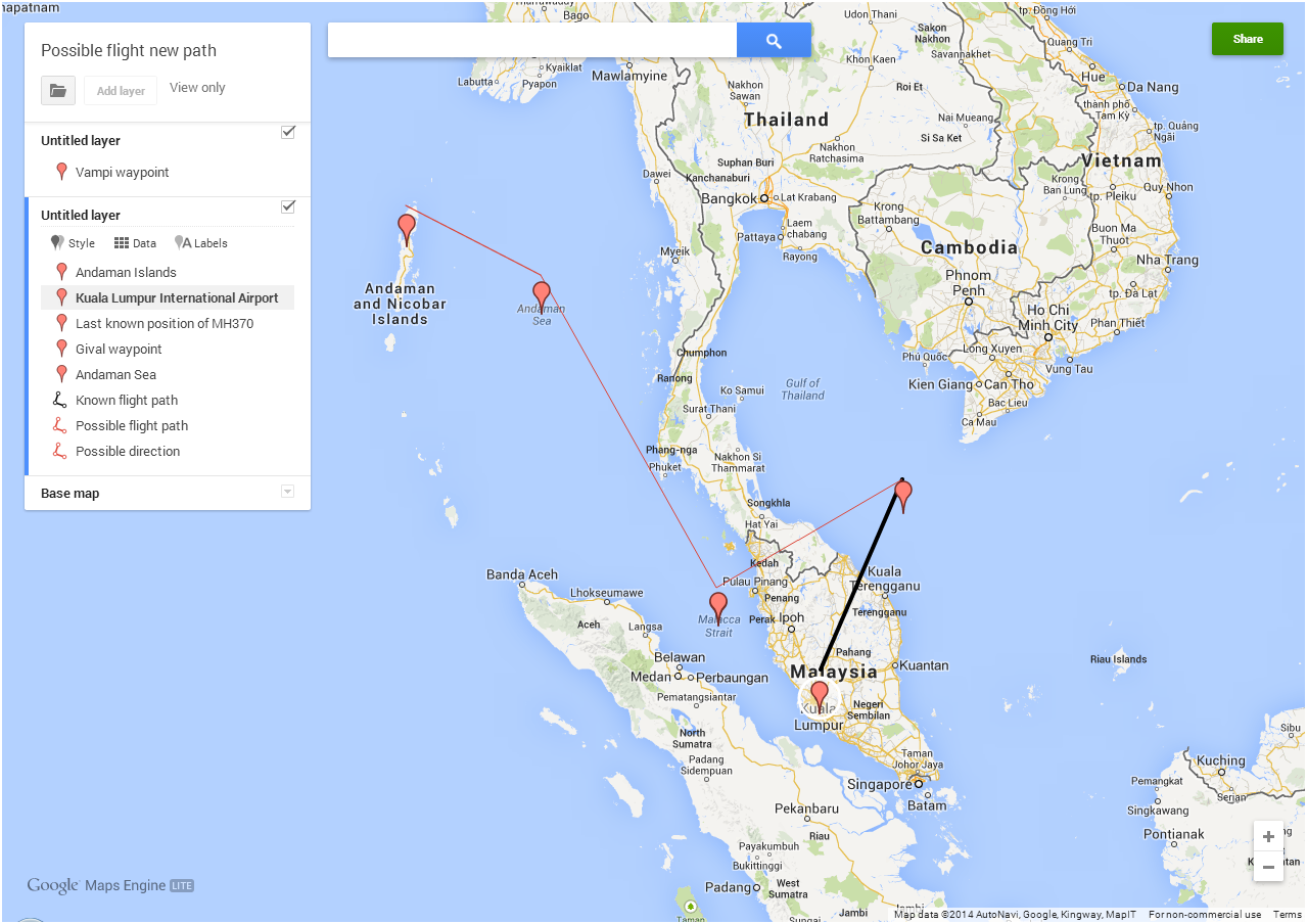 Check out this Google Maps for searching the missing Malaysia ...